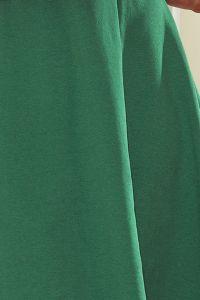 239-1 INEZ trapezowa sukienka - ZIELEŃ BUTELKOWA