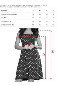 241-1 STELLA Sukienka z dekoltem w karo - GRANATOWA W GROCHY