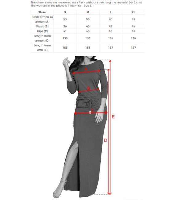 220-4 MAXI sukienka sportowa z rozcięciem - DUŻE CZERWONE KWIAY