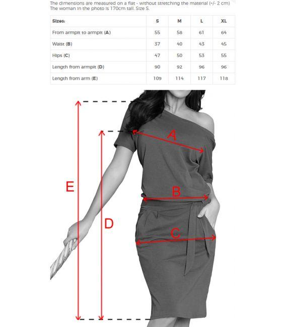 249-1 CASSIE sukienka z krótkim rękawkiem - CHABROWA