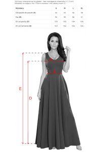 246-1 CINDY długa suknia z dekoltem - BORDOWA