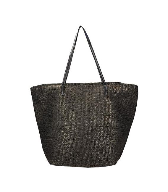 Czarno złota torba plażowa INVUU LONDON 15B0100
