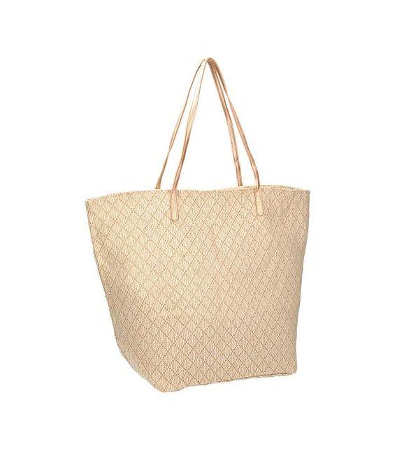 Beżowo złota torba plażowa INVUU LONDON 15B0100