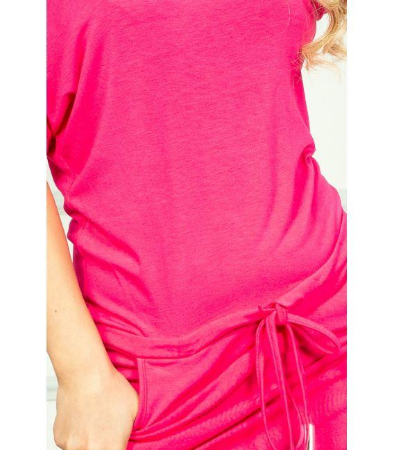 56-1 Sukienka sportowa - NEON Różowa