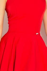 114-3 Sukienka z koła - dekolt w kształcie serca - marciano CZERWONA