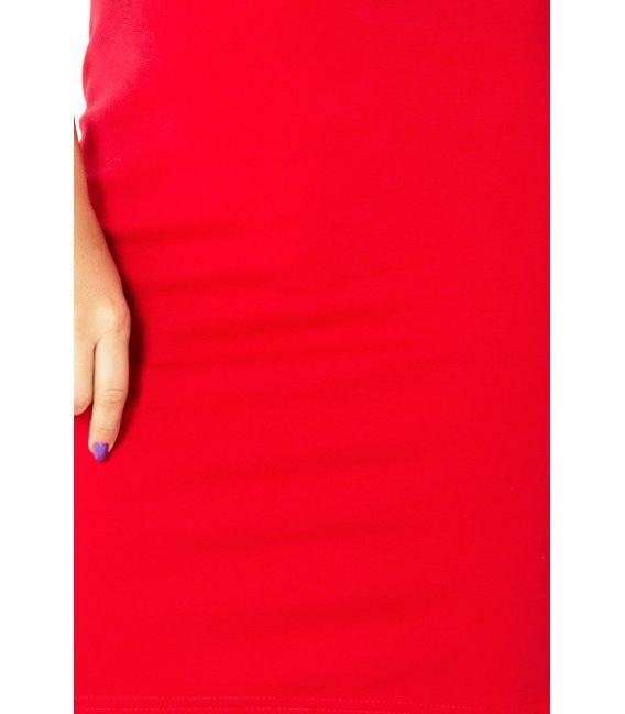 132-2 Sukienka z dziubkiem - CZERWONA