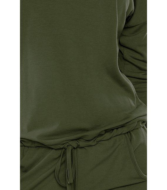 13-76 Sukienka sportowa - KHAKI - militarny