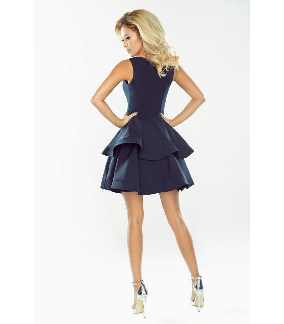 169-2 Sukienka CRISTINA rozkloszowana - GRANATOWA