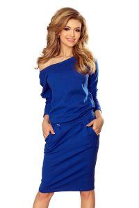 189-2 Sukienka dresowa z dekoltem na plecach - CHABROWA