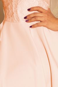 157-7 Sukienka MARTA z koronką - BRZOSKWINIA