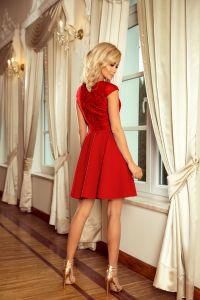157-8 Sukienka MARTA z koronką - CZERWONA