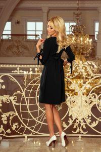 195-8 ALICE Sukienka z kokardkami - CZARNA