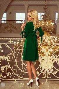 195-7 ALICE Sukienka z kokardkami - JASNY ZIELONY
