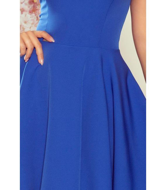 114-12 Rozkloszowana sukienka - dekolt w kształcie serca - CHABROWA