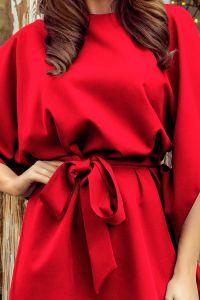 287-3 SOFIA Sukienka motyl - CZERWONA