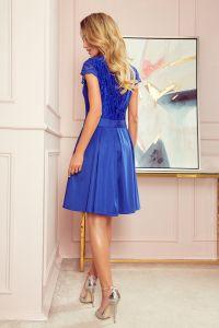 242-3 ANNA sukienka z dekoltem i koronką - CHABROWA