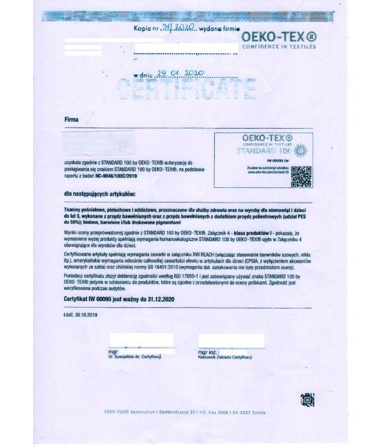 CV08 Maseczki wielorazowe - Turkusowy wzór - bawełna 100% - 2 szt
