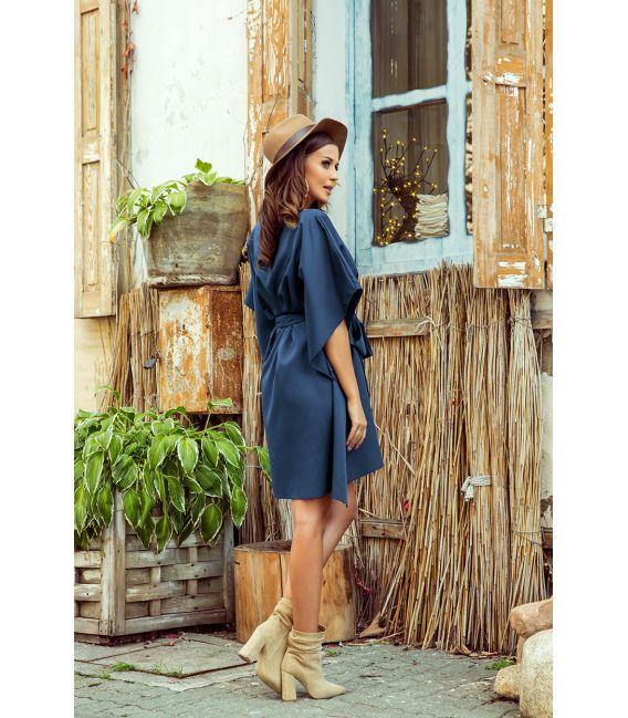 287-7 SOFIA Sukienka motyl - NIEBIESKA