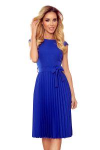311-2 LILA Plisowana sukienka z krótkim rękawkiem - CHABROWA