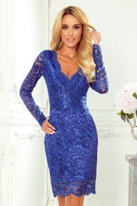 170-8 Koronkowa sukienka z długim rękawkiem i DEKOLTEM - CHABROWA