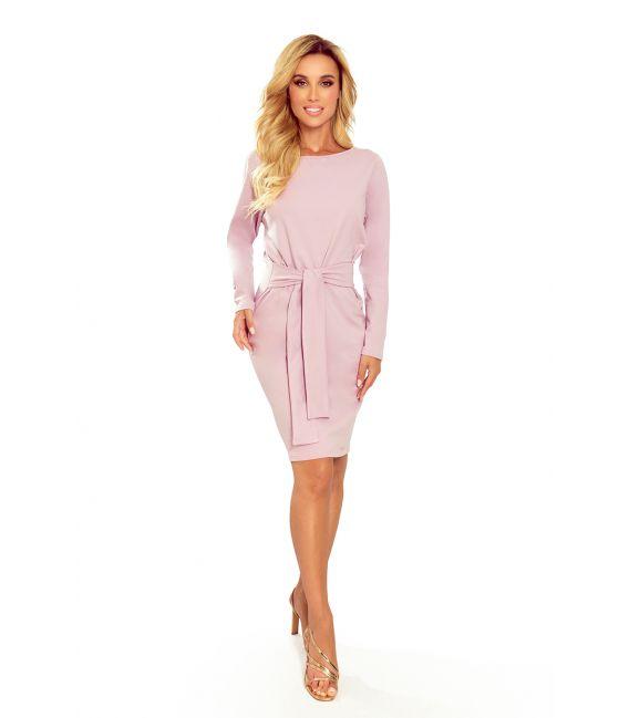 209-7 Sukienka z szerokim wiązanym PASKIEM - WRZOS