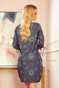 281-5 SOPHIE Wygodna sukienka Oversize - ZIELONE MANDALE