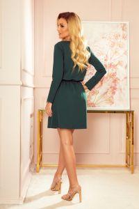 283-2 NANCY Sukienka z zamkiem - zieleń butelkowa