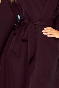 287-12 SOFIA Sukienka motyl - CZARNA