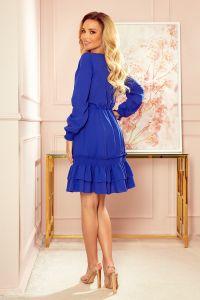336-1 Szyfonowa sukienka z marszczonymi gumkami - CHABROWA