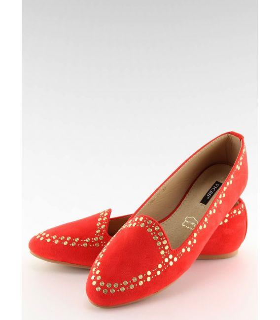 Mokasyny lordsy czerwone 1389 RED