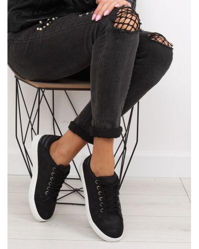 Trampki damskie czarne SU09p BLACK