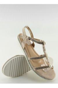 Sandałki z perełkami różowe RC-33 PINK