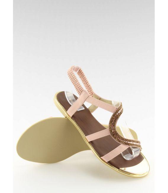 Sandałki asymetryczne różowe 4157 PINK