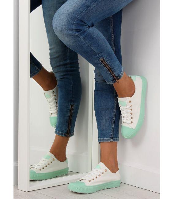 Trampki na kolorowej gumie W-3051 Green