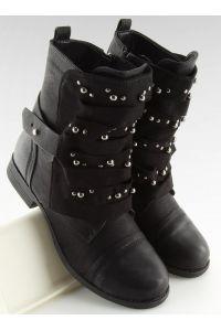 Botki militarne czarne 2194 BLACK