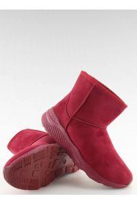 Śniegowce damskie bordowe D009 RED