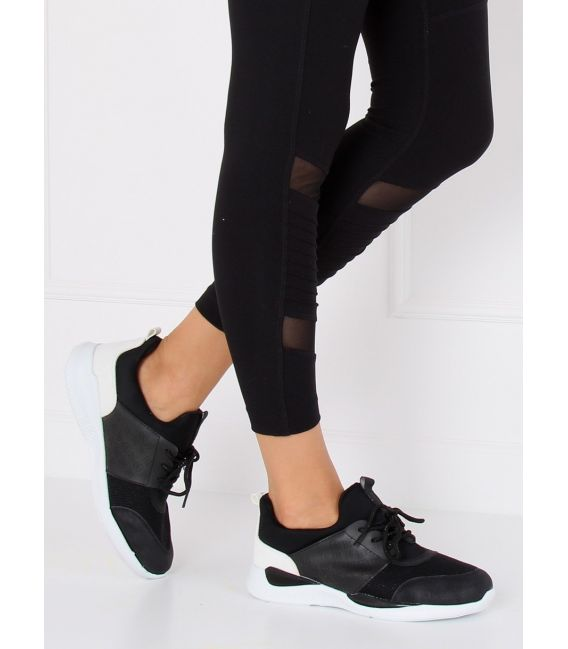 Ultra lekkie buty sportowe czarne BY-069 BLACK