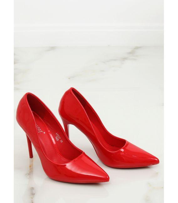 Szpilki damskie czerwone LE03P RED