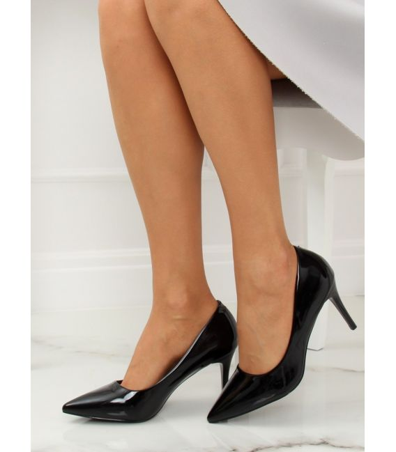 Szpilki damskie czarne LE011P BLACK