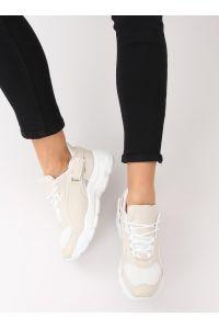 Buty sportowe beżowe BL149 BEIGE