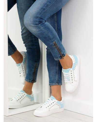 Trampki damskie biało-niebieskie LA09 BLUE