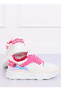 Buty sportowe biało-różowe BL157 ROSE RED