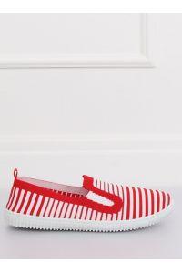 Tenisówki slipon czerwone XJ-2909 RED