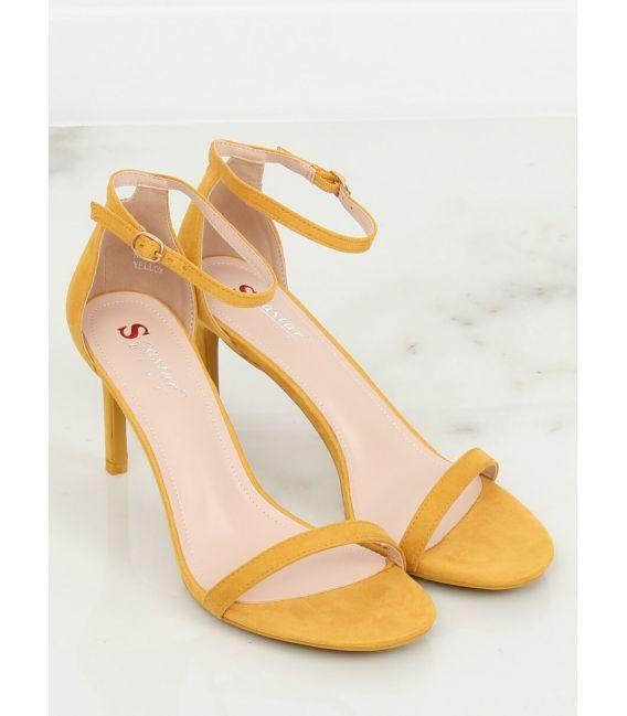 Sandałki na szpilce żółte NF-31P YELOW