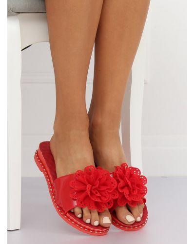 Klapki damskie czerwone 38822 RED