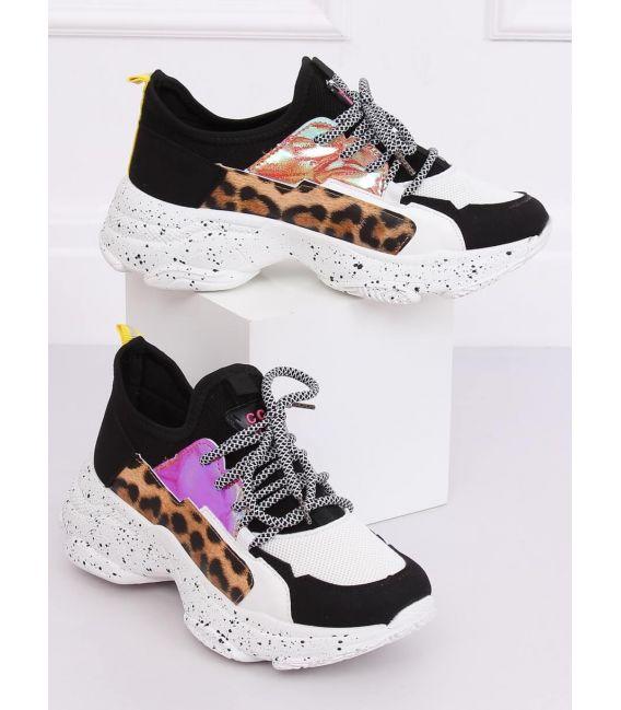 Buty sportowe biało-czarne HL-04 BLACK