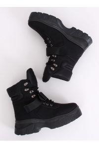 Buty traperki czarne HE117P BLACK
