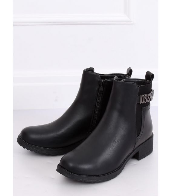 Botki damskie czarne 1210A-PA BLACK