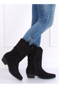 Kowbojki damskie czarne NC972 BLACK