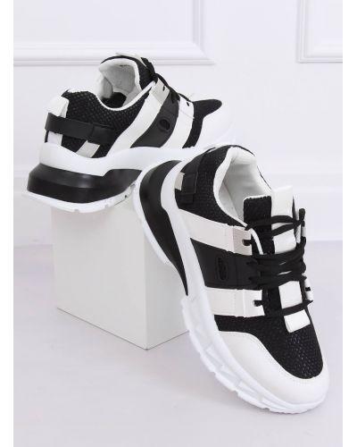 Buty sportowe damskie biało-czarne LA86P BLACK